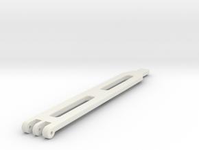 Traxxas TRX 4 Standard LiPo Battery Strap in White Natural Versatile Plastic: 1:10