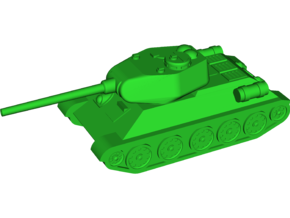 T-34-85 Medium Tank in White Natural Versatile Plastic: Small