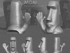 Moai has something to say. in Metallic Plastic