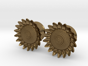 "Sunflower 5/8"" ear plugs 16mm in Polished Bronze"