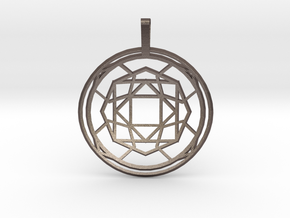 Soul Force (Domed) in Polished Bronzed Silver Steel