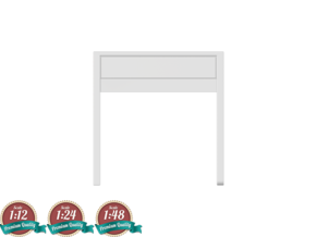 Miniature Micke Small Desk - IKEA in White Natural Versatile Plastic: 1:24