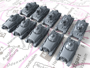 1/700 French Hotchkiss H35 Light Tanks x10 in Smoothest Fine Detail Plastic