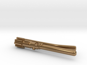 Star Wars: Light Saber Tie Clip for Skinny ties in Natural Brass