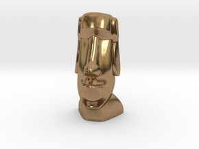 Moai-Standard version in Natural Brass: Small