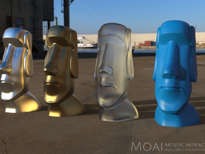 Moai-Standard version in Natural Silver: Large