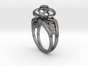 Korean Twin Ring (001) in Fine Detail Polished Silver