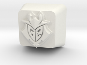 G2 Esports Keycap in White Natural Versatile Plastic