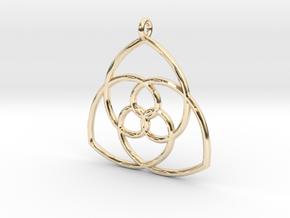 Gielis' Curve Pendant in 14K Yellow Gold
