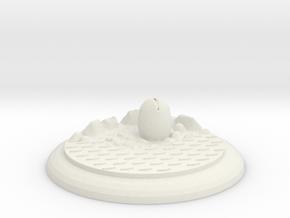 Alienbase 50mm Round in White Natural Versatile Plastic