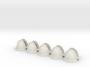 Blank MK2 Shoulders - Rebuilt 008a in White Natural Versatile Plastic