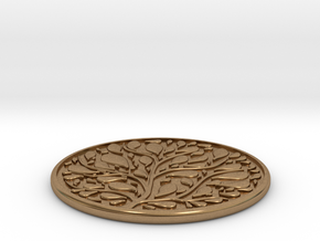Tree Coaster in Natural Brass