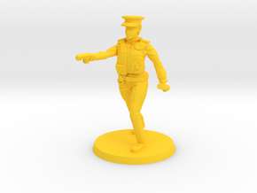 Officer Bobbi pose 2 in Yellow Strong & Flexible Polished