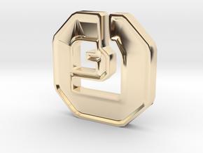 Shanix Coin in 14k Gold Plated Brass: Medium