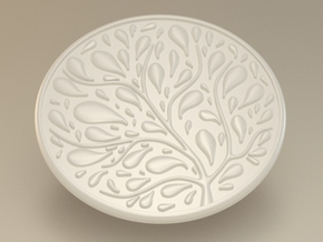 Tree Coaster in White Natural Versatile Plastic
