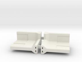 Concrete Retaining Wall - 90° Corner (pair) in White Natural Versatile Plastic