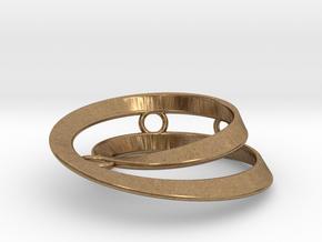 Mobius split loop in Natural Brass: Small