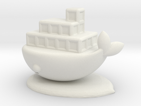 whale ship in White Natural Versatile Plastic