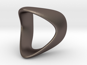Curve Ring  in Polished Bronzed Silver Steel