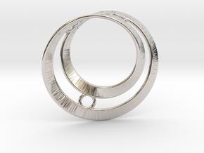 Mobius split loop in Rhodium Plated Brass: Small