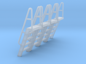 HO Scale Ladder 5 in Smooth Fine Detail Plastic