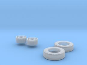 1:50 Anhänger Reifen Ø 13,35mm B 3,77mm in Smooth Fine Detail Plastic