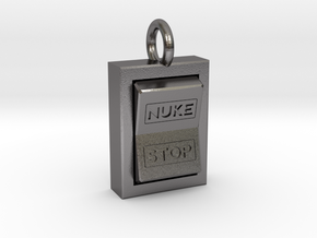 Nuke Pendant in Polished Nickel Steel