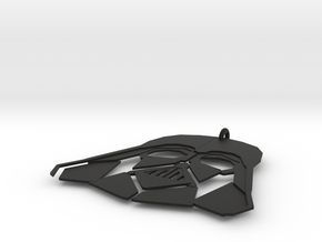 Darth Vadar Pendant in Black Natural Versatile Plastic