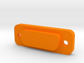 Cover for D-sub DA-15 in Orange Processed Versatile Plastic