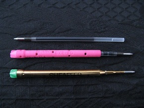 Adapter: Old Sheaffer BP To Uni SXR-80 in Pink Processed Versatile Plastic