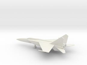 MiG-25PDS Foxbat-E in White Natural Versatile Plastic: 1:200