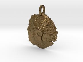 Mount St. Helens Map Pendant - Medium in Natural Bronze