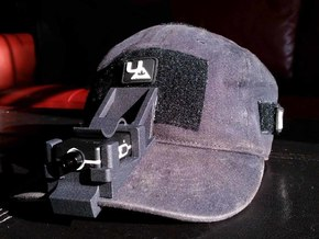 Mobius Mini Hat Mount in Black Natural Versatile Plastic