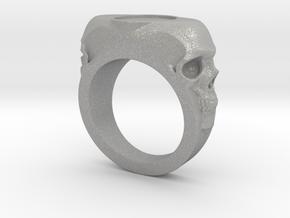 Skull Signet Ring blank size 12 in Aluminum