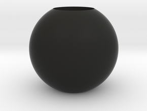 Acoustic Sphere 50mm (22mm mic) in Black Natural Versatile Plastic