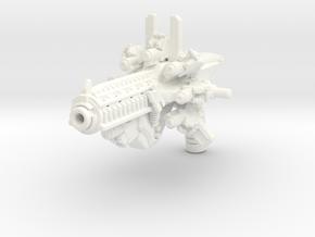 Time Blaster for TLK Hot Rod (more storage) in White Processed Versatile Plastic