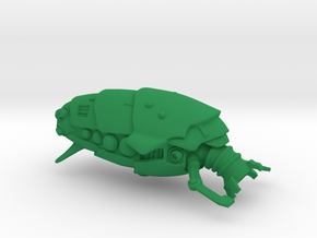 """Space Utility Freighter """"Cudele Lamina"""" (Drone) in Green Processed Versatile Plastic"""