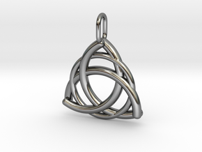 Triquetra in Fine Detail Polished Silver