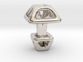 Square Cufflink in Platinum