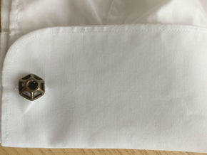 Hexagonal Cufflink in Polished Bronze Steel