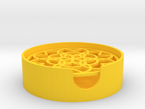 Pattern Soap Dish in Yellow Processed Versatile Plastic