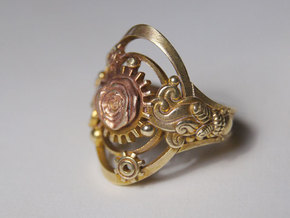 Botanika Mechanicum Ring SIZE 10 in Natural Brass