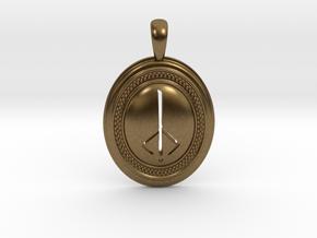 Bloodborne Hunter's Mark Pendant/Keychain in Natural Bronze