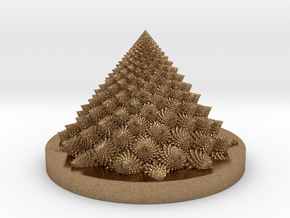 Romanesco fractal Bloom zoetrope in Natural Brass: Medium