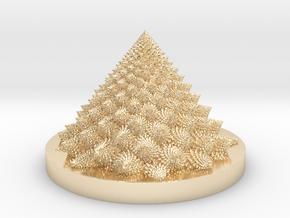 Romanesco fractal Bloom zoetrope in 14K Yellow Gold: Medium