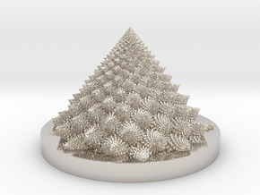 Romanesco fractal Bloom zoetrope in Platinum: Medium