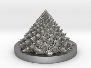 Romanesco fractal Bloom zoetrope (backwards) in Natural Silver: Medium