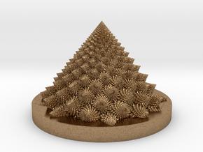 Romanesco fractal Bloom zoetrope (more resolution) in Natural Brass: Medium