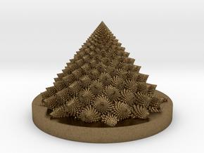 Romanesco fractal Bloom zoetrope (more resolution) in Natural Bronze: Medium