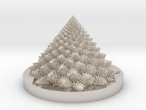 Romanesco fractal Bloom zoetrope (more resolution) in Platinum: Medium